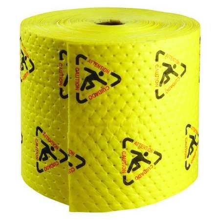 Absorbent Roll, Yellow, 20 gal., 15 In. W