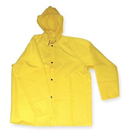 FR Rain Jacket with Hood, Yellow, 2XL