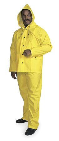3 Piece Rainsuit w/Detachable Hood, Ylw, S