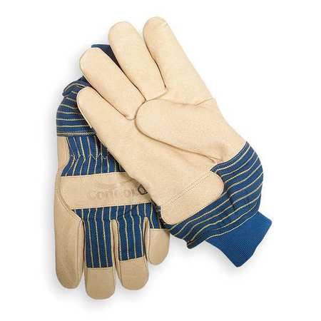 Leather Gloves, Grained Pigskin, XL, PR