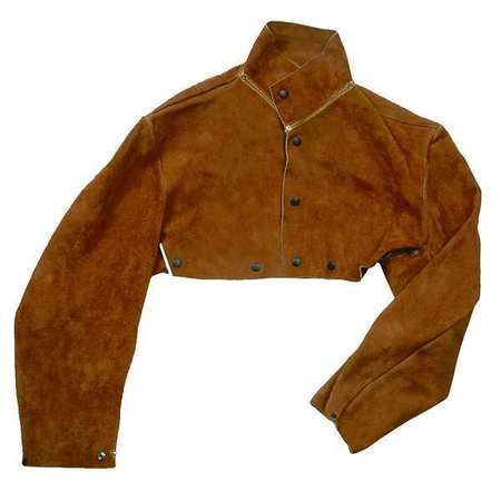 Flame Resistant Cape Sleeve,  Brown,  Leather,  XL