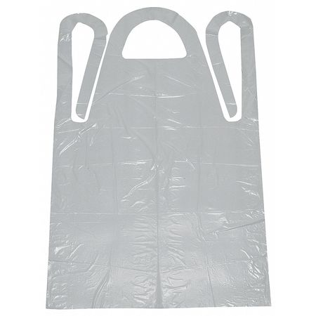 Disposable Apron, White, 46 In. L, PK100