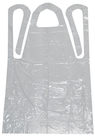 Disposable Apron, White, 42 In. L, PK100