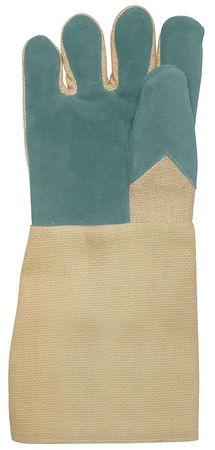 Heat Resistant Gloves, Tan, Leather, PR