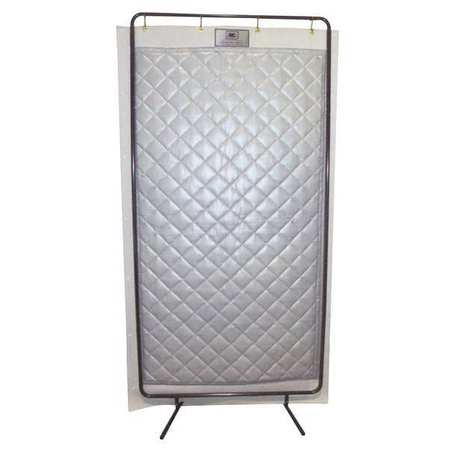 Acoustic Screen,  Modular, Gray, 4 x 8 ft.