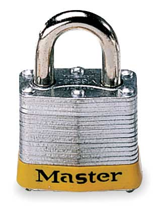 "Lockout Padlock, KD, Yellow, 1-1/4""H"