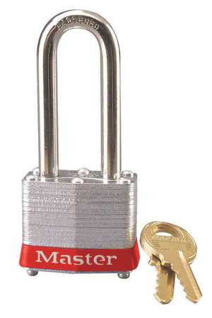 "Lockout Padlock, KD, Red, 1-1/4""H"
