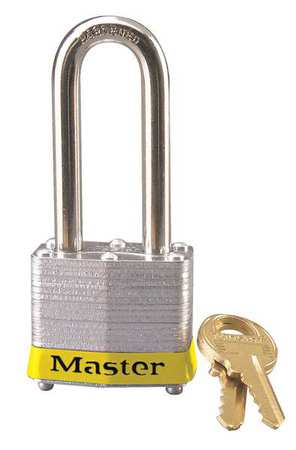 "Lockout Padlock, KD, Yellow, 1-1/4""H"