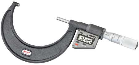 Electronic Micrometer, 5-6 In, 0.00005 Res