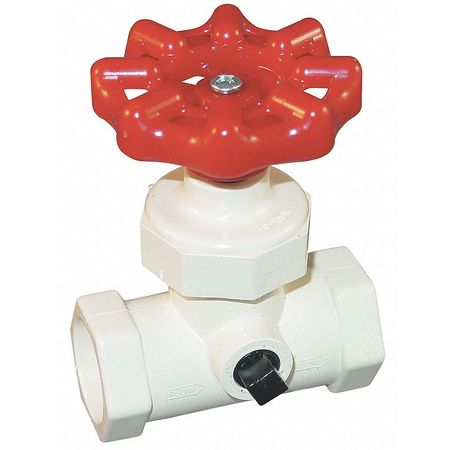 Stop and Waste Valve, 3/4 In, Slip