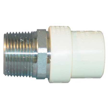 "3/4"" MNPT x CTS Hub CPVC Steel Transition Male Adapter"