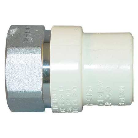 "3/4"" FNPT x CTS Hub CPVC Steel Transition Adapter"