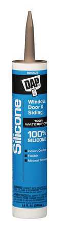 Rubber Sealant, 9.8 oz, Bronze
