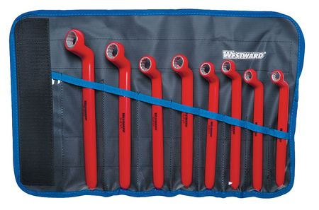 Insulated Box Wrench Set, 10 to 19mm, 8pc.