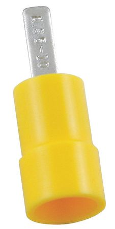 Pin Terminal, Yellow, Butted, 12-10, PK50