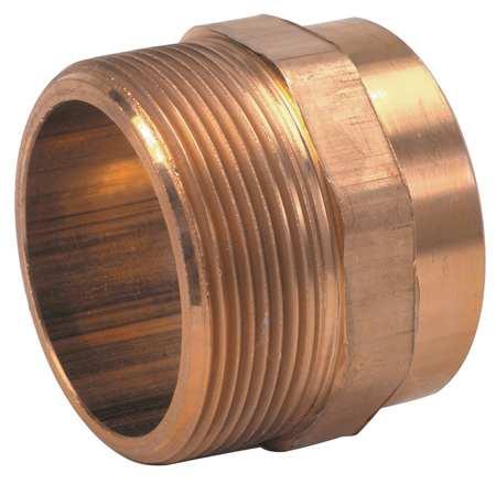 "1-1/2"" C x MNPT Cast Brass DWV Adapter"