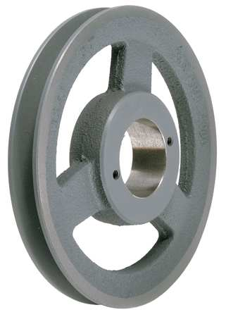 "1/2"" - 1-1/2"" Bushed Bore 1 Groove V-Belt Pulley 6.75"" OD"
