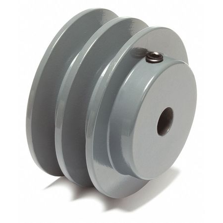 """1/2"""" Fixed Bore 2 Groove V-Belt Pulley 2.25"""" OD"""