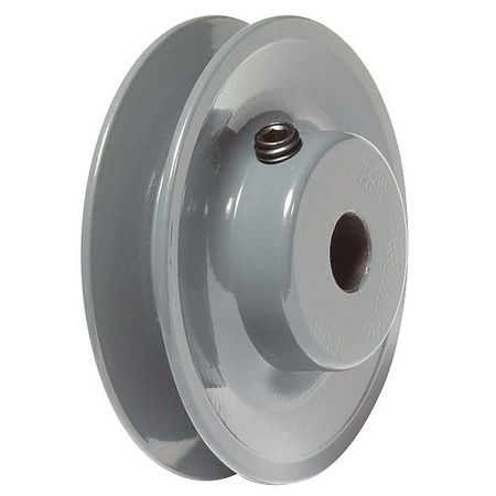 "V-Belt Pulley, 1/2""Fixed, 2.55""OD, Iron"