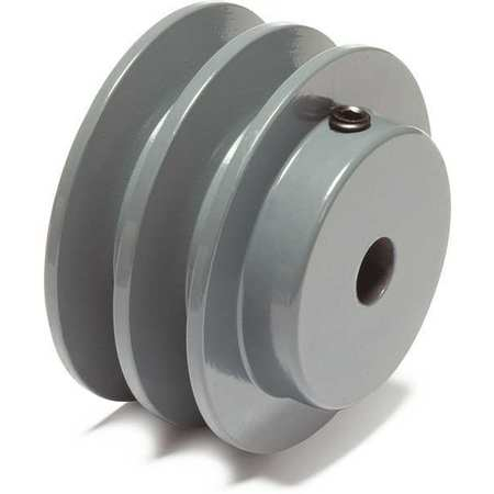 "1/2"" Fixed Bore 2 Groove V-Belt Pulley 2.25"" OD"