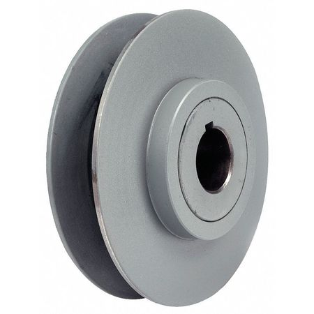 "1-1/8"" Fixed Bore 1 Groove Variable Pitch Pulley 6"" OD"