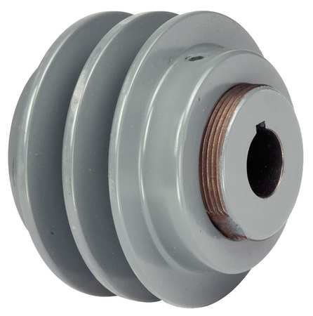 "5/8"" Fixed Bore 2 Groove Variable Pitch Pulley 3.35"" OD"