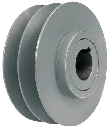 "1-5/8"" Fixed Bore 2 Groove Variable Pitch Pulley 6.5"" OD"