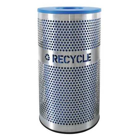 19YA68, Recycling Receptacle, 90 gal., 2 Stream