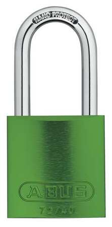 "Lockout Padlock, KA, Green, 1-1/2""H, PK3"