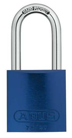 "Lockout Padlock, KA, Blue, 1-1/2""H, PK3"