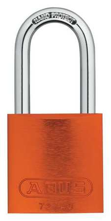 "Lockout Padlock, KD, Orange, 1-1/2""H"