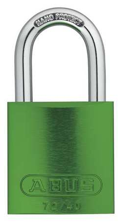 "Lockout Padlock, KA, Green, 1-1/2""H, PK6"