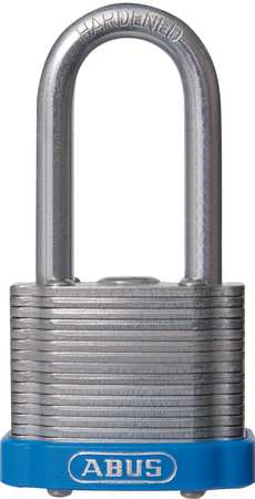 "Lockout Padlock, KA, Blue, 1-3/8""H"