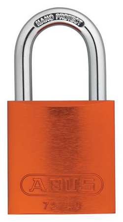 "Lockout Padlock, KA, Orange, 1-1/2""H, PK3"
