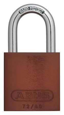 "Lockout Padlock, KA, Brown, 1-1/2""H, PK3"