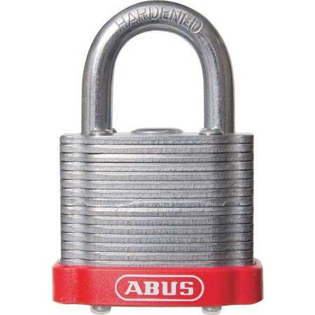 "Lockout Padlock, KD, MK, Red, 1-3/8""H"