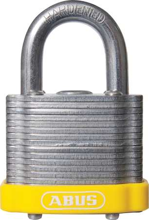"Lockout Padlock, KA, Yellow, 1-3/8""H"