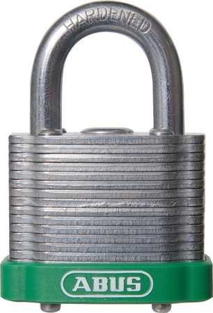 "Lockout Padlock, KD, MK, Green, 1-3/8""H"