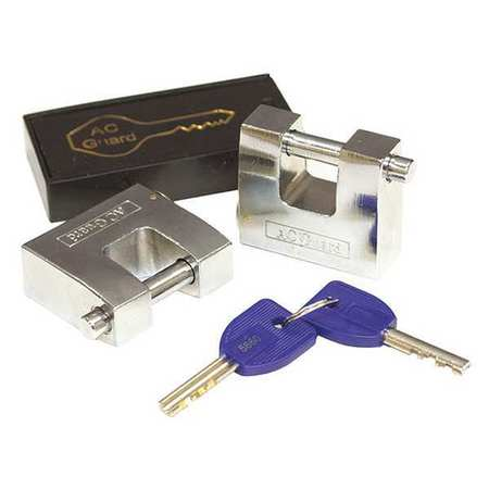 U-Shaped Keyed Padlock, 2 InH, PK2