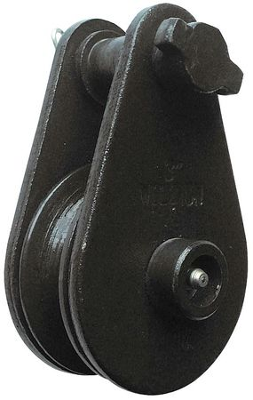 Pulley Block, Wire Rope, 4000 lb Load Cap.