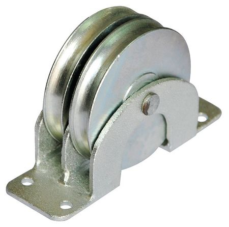 Dbl Pulley Block, Wire Rope, 660 lb. Cap