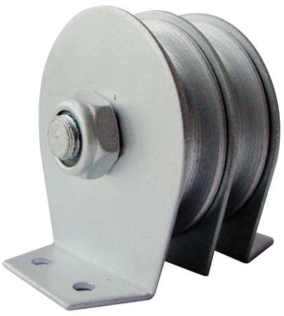 Dbl Pulley Block, Wire Rope, 600 lb. Cap.