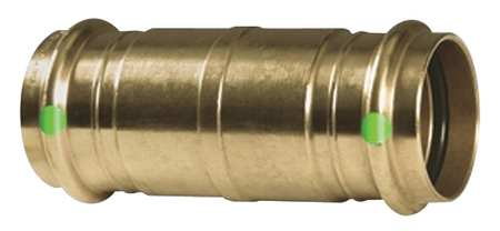 "ProPress 1-1/4"" Press Copper Extended Coupling without Stop"