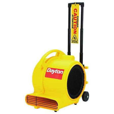 Carpet/Floor Dryer, 120V, 1800 cfm, Yellow