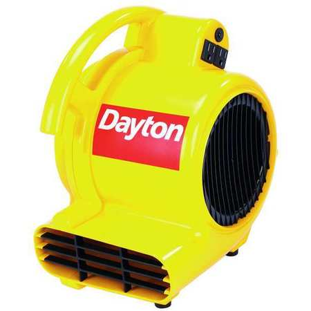 Carpet/Floor Dryer, 120V, 500 cfm, Yellow