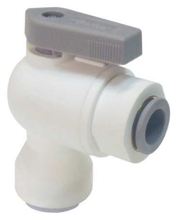 "3/8"" x 1/4"" Push Polypropylene Ball Valve Angle"