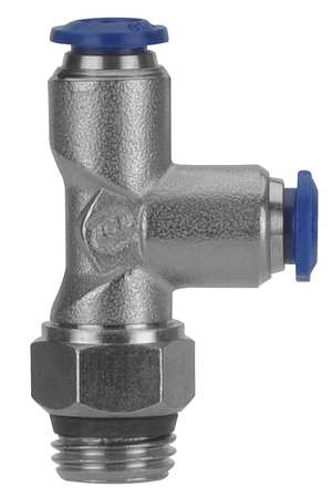 "Male Swivel Run Tee, PushConn, 1/8"", PK5"
