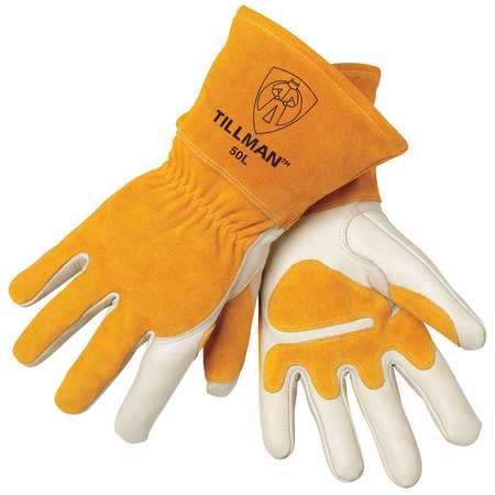 Welding Gloves, MIG, L, 14 In. L, Wing, PR