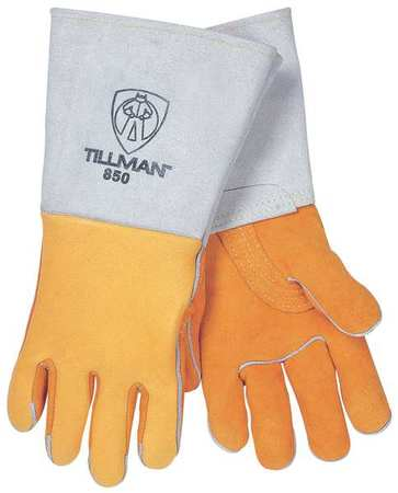 Welding Gloves, Stick, M, 14 In. L, PR