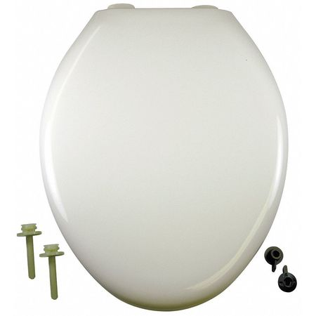 "Slow Close Toilet Seat,  Elongated 18"" Closed Front,  With Cover White"